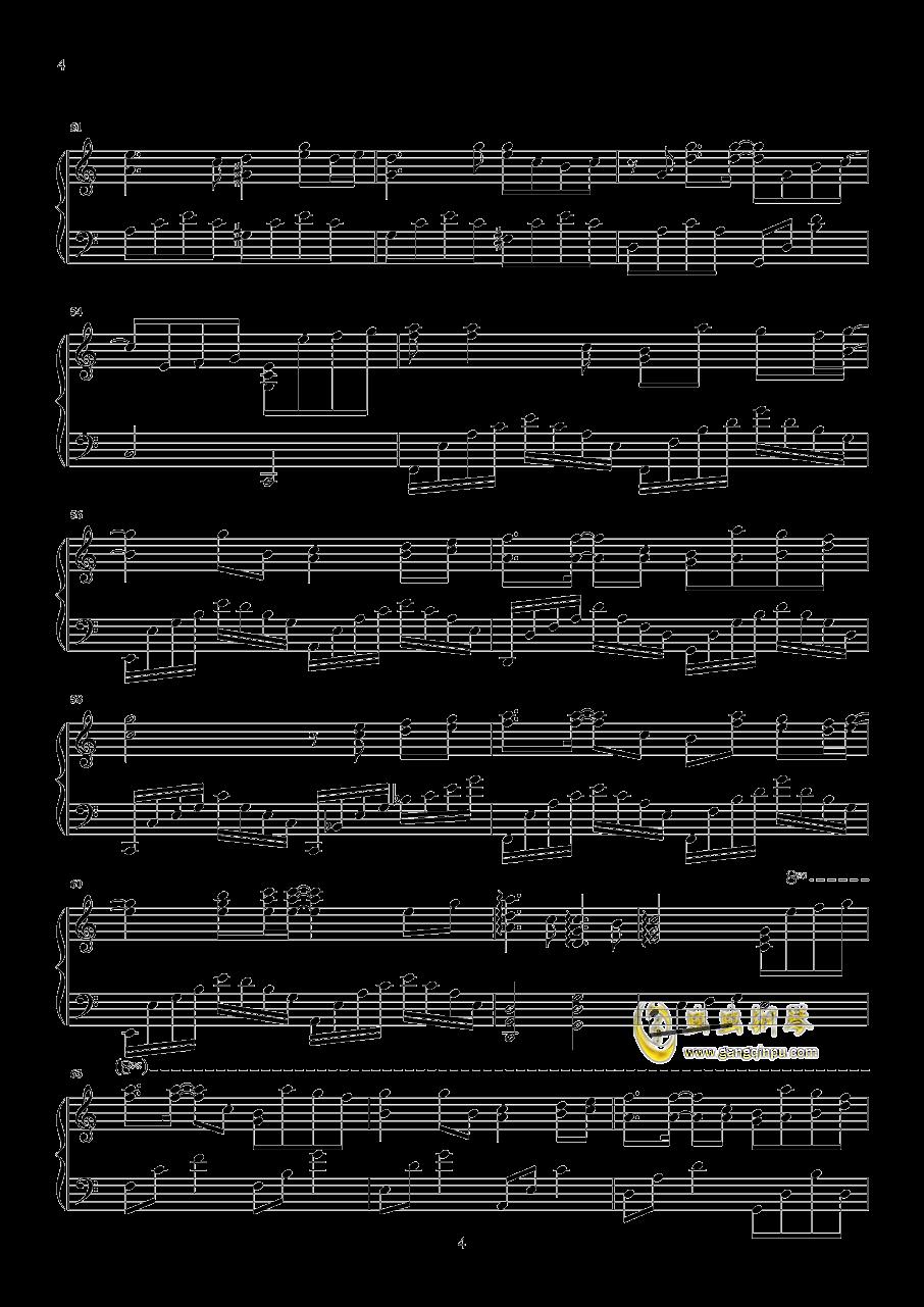 路过我耳朵的忧伤钢琴谱 第4页