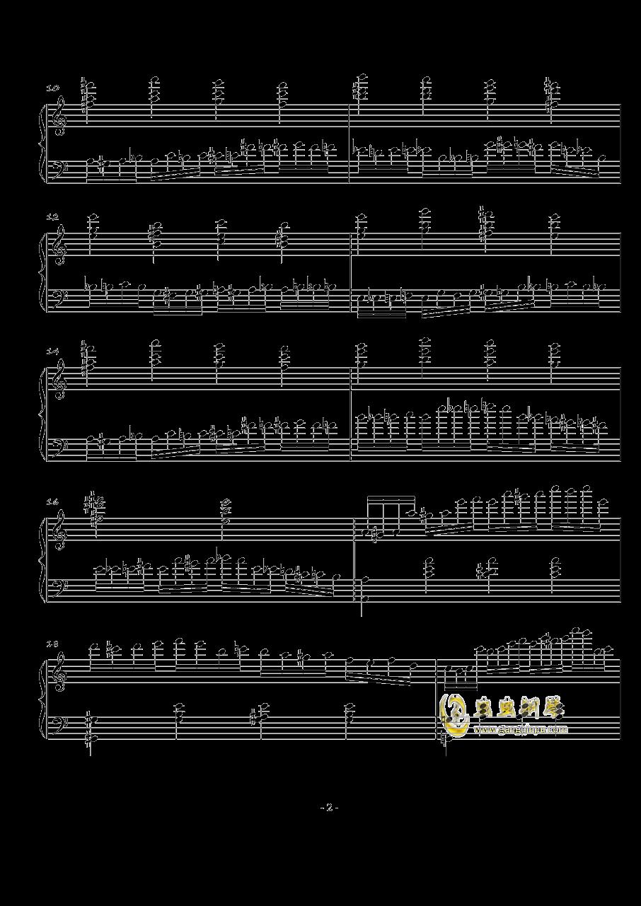 火星练习曲Op.2 No.4钢琴谱 第2页