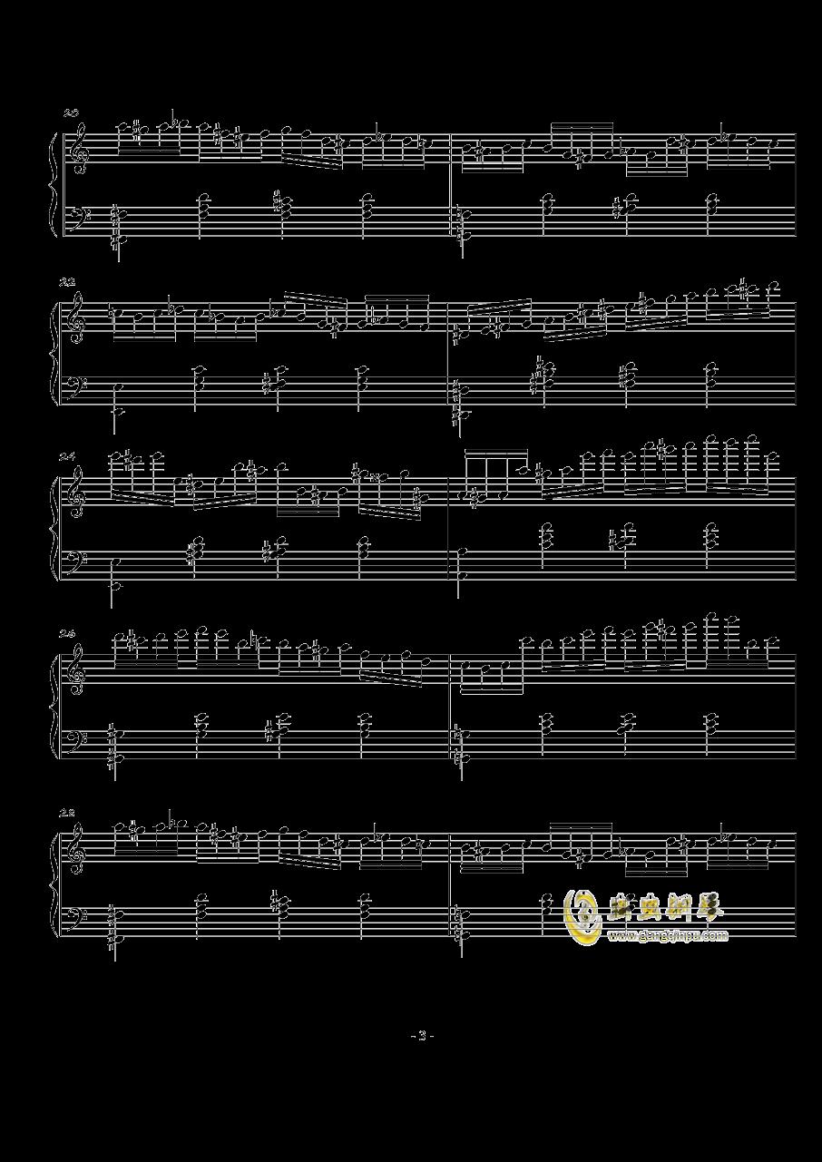 火星练习曲Op.2 No.4钢琴谱 第3页