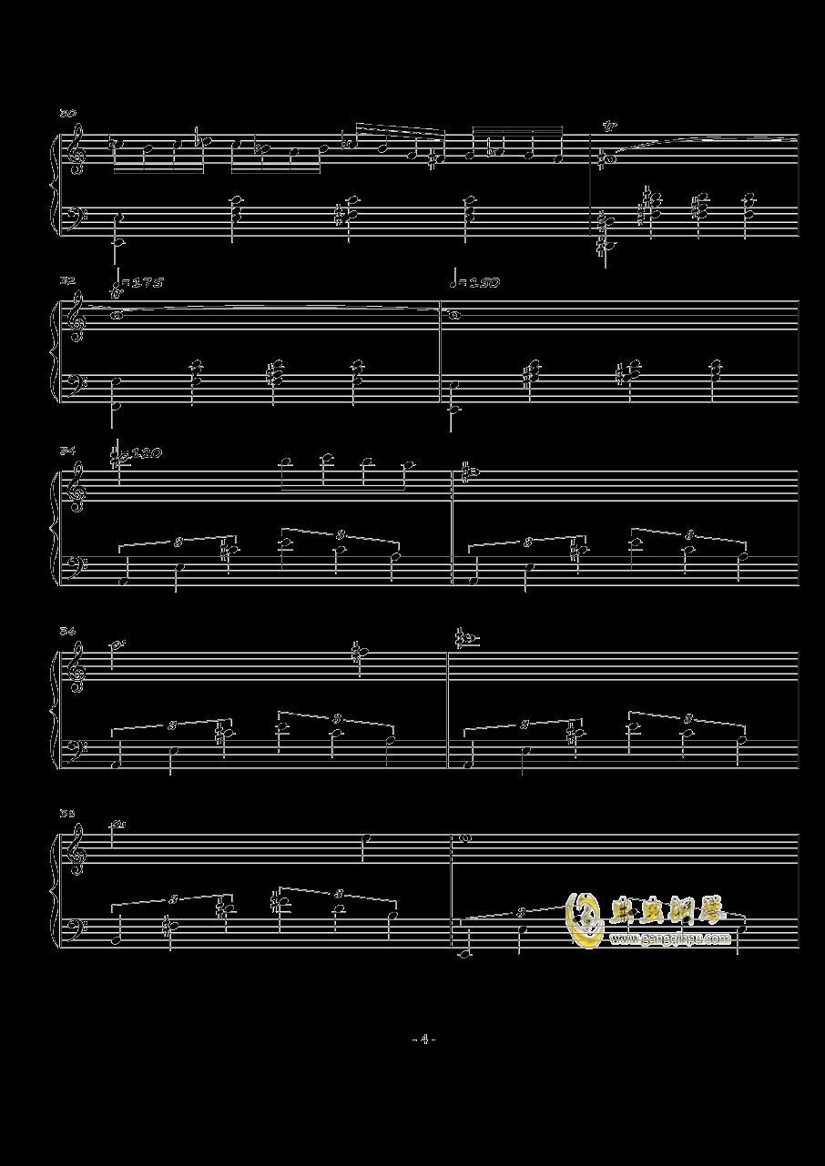 火星练习曲Op.2 No.4钢琴谱 第4页
