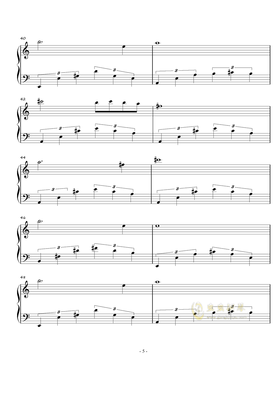 火星练习曲Op.2 No.4钢琴谱 第5页