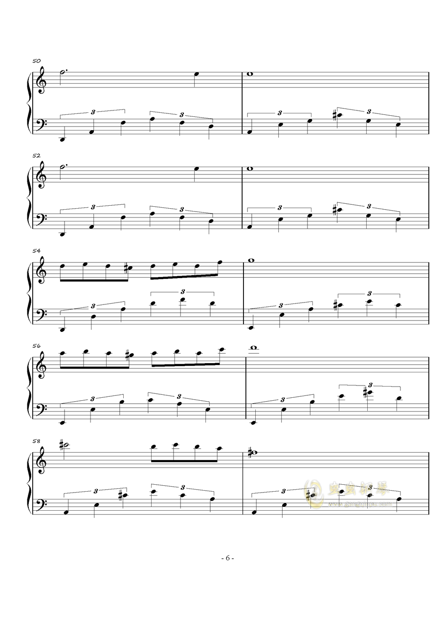 火星练习曲Op.2 No.4钢琴谱 第6页