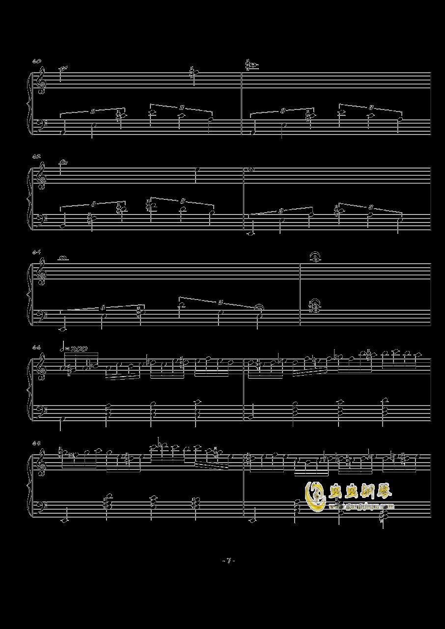 火星练习曲Op.2 No.4钢琴谱 第7页