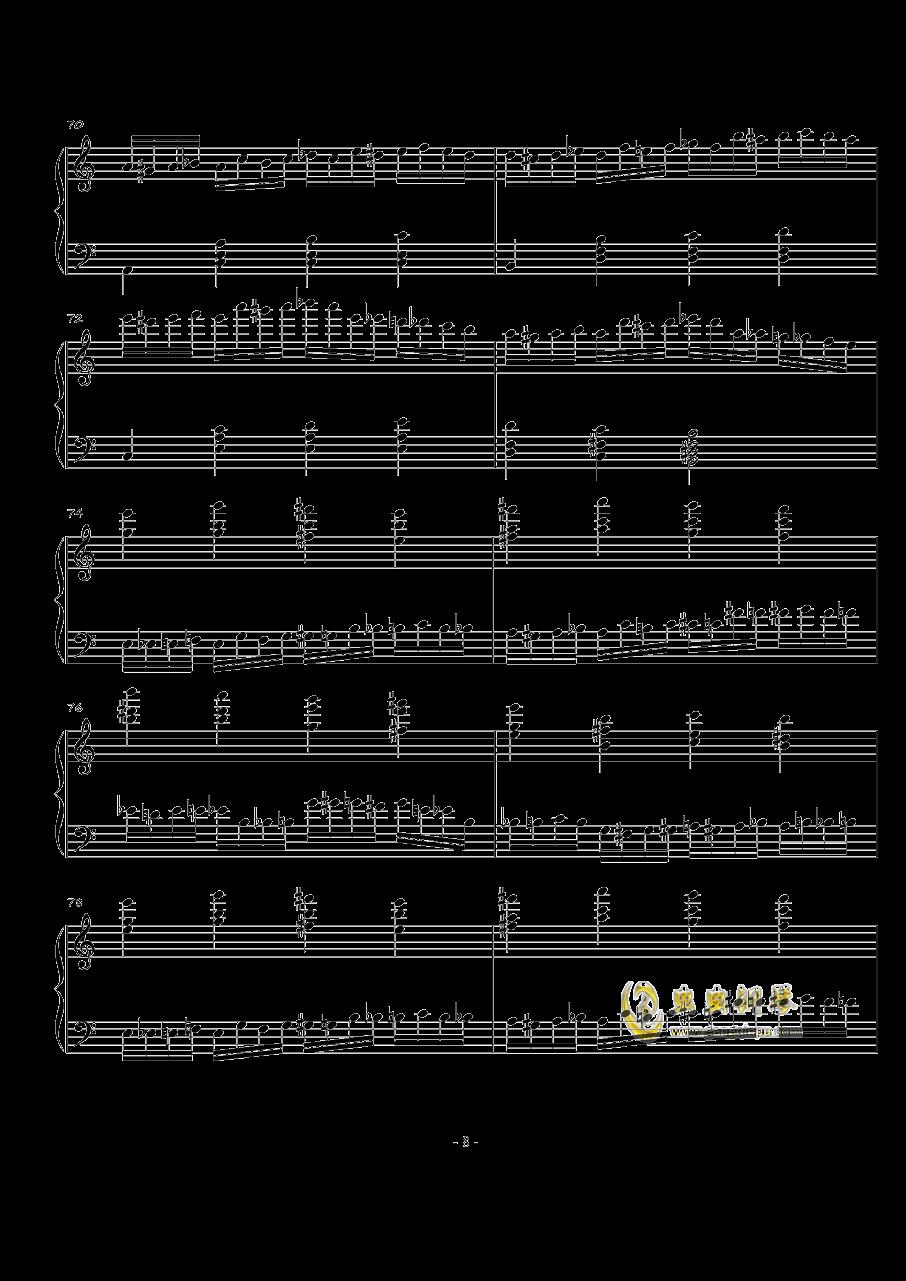 火星练习曲Op.2 No.4钢琴谱 第8页