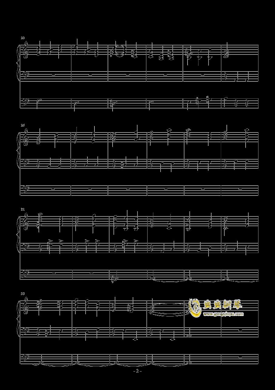 感怀与思念钢琴谱 第2页