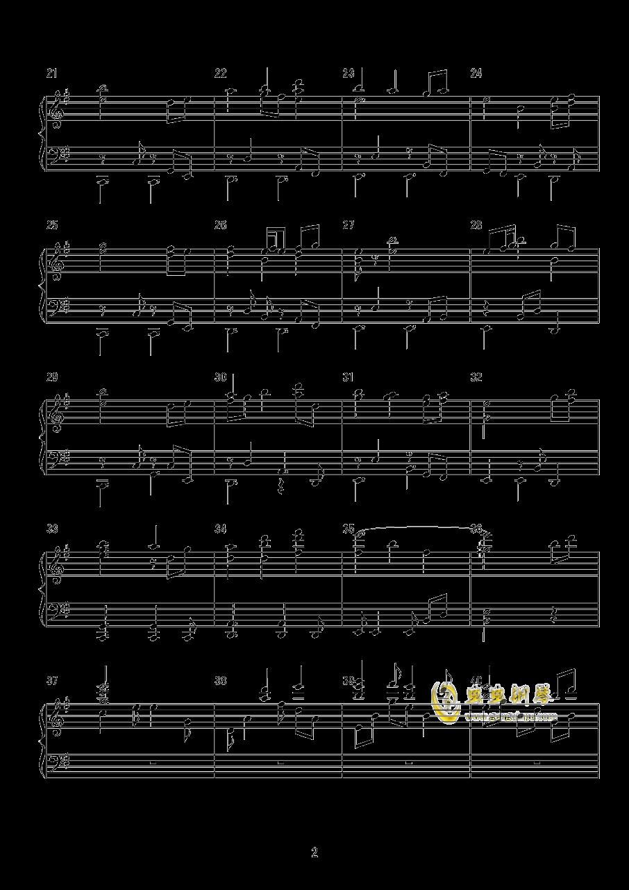 天衣无缝钢琴谱 第2页