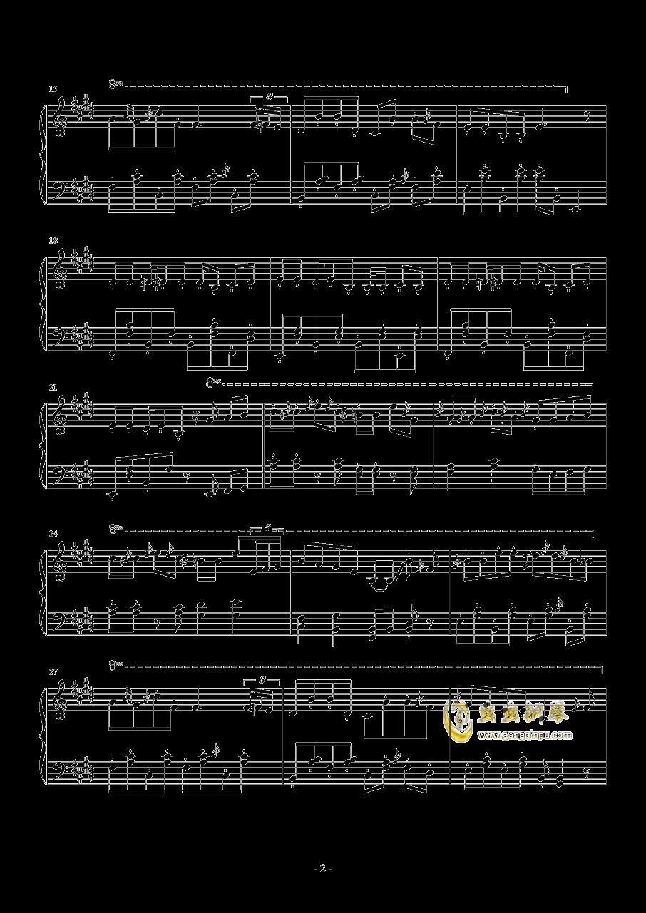 恋のエチュード钢琴谱 第2页