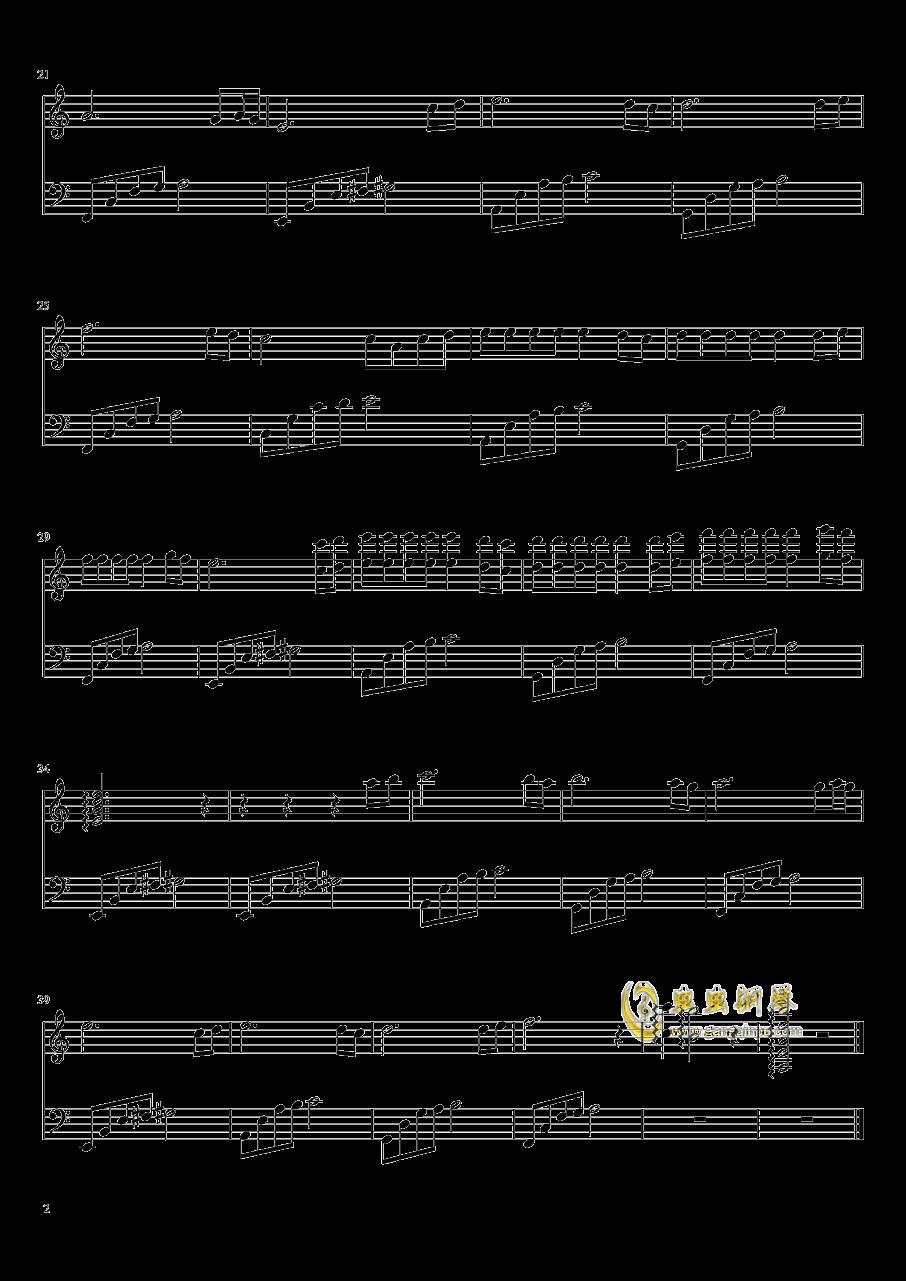 失恋进行曲钢琴谱 第2页