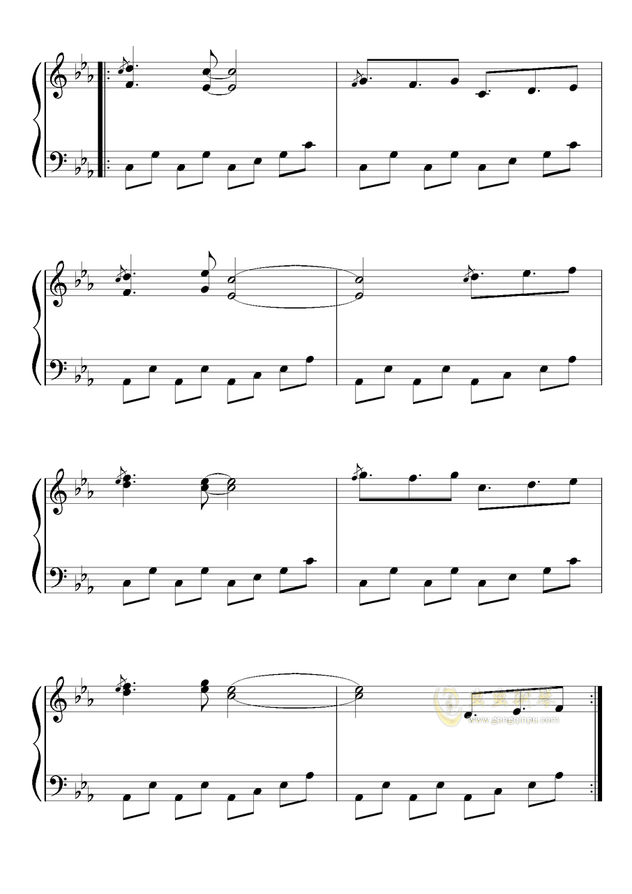不可思议之国的爱丽丝钢琴谱 第2页