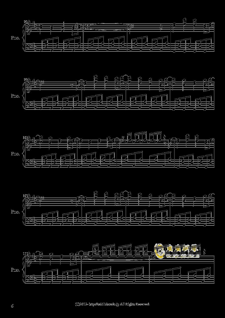 少女幻葬钢琴谱 第6页