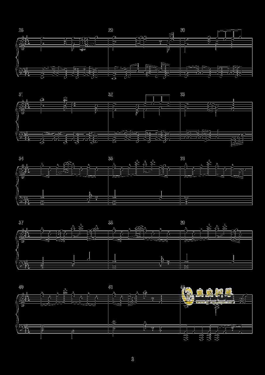 东方萃梦想钢琴谱 第3页