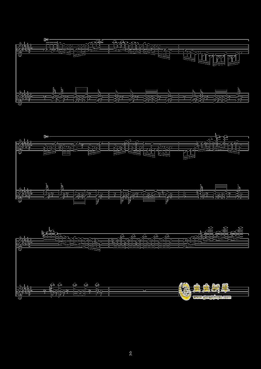少女绮想曲钢琴谱 第2页