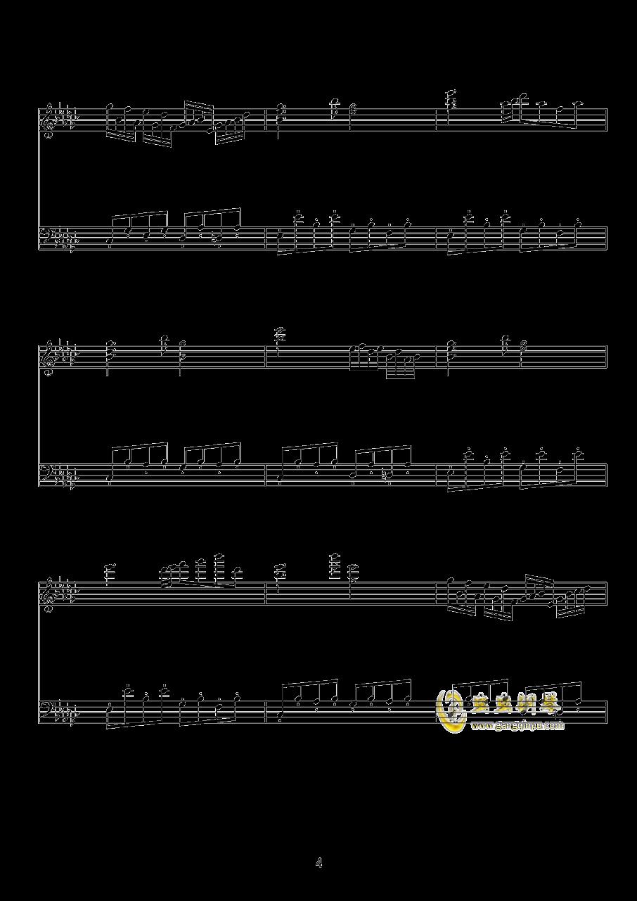 少女绮想曲钢琴谱 第4页