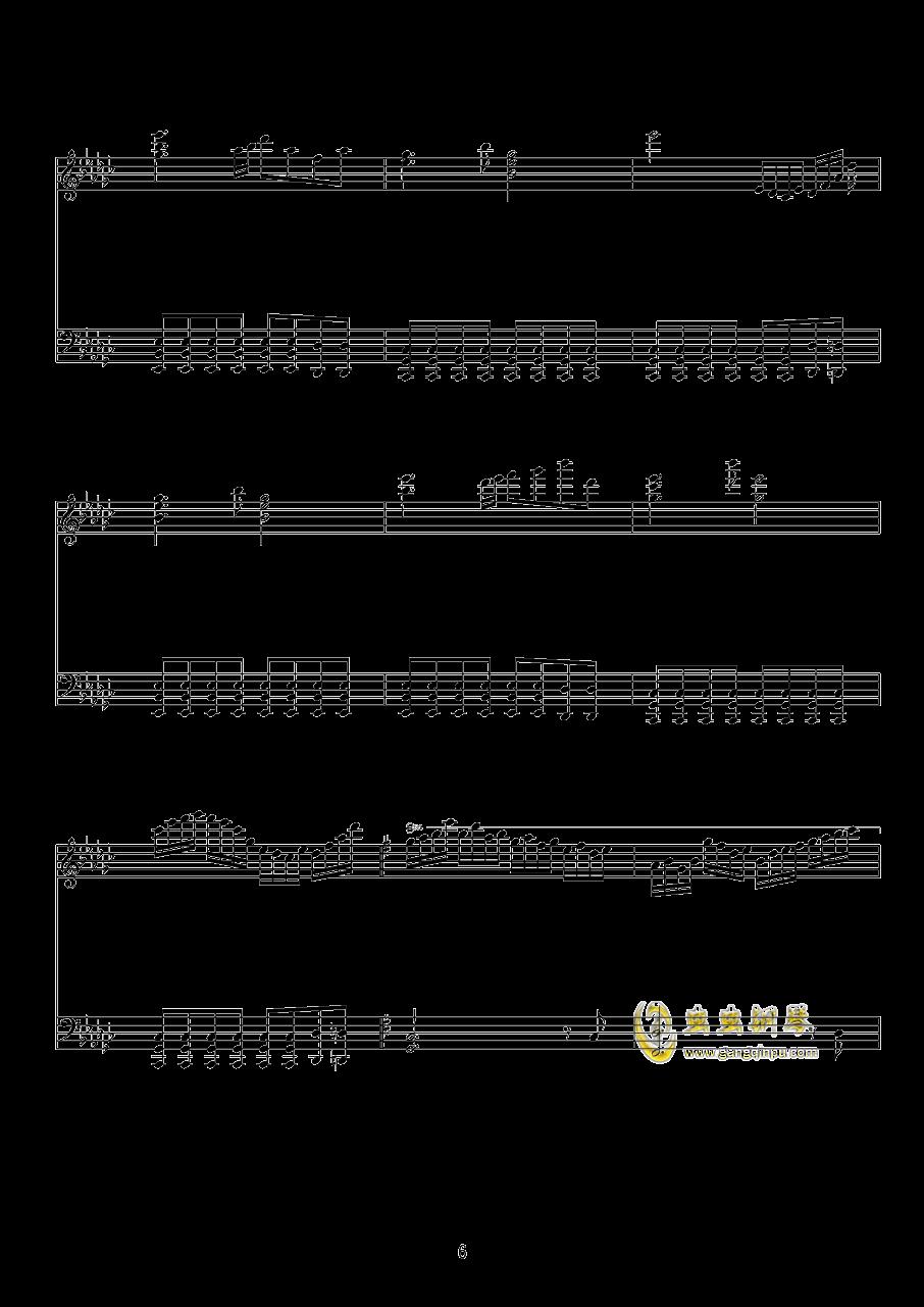 少女绮想曲钢琴谱 第6页