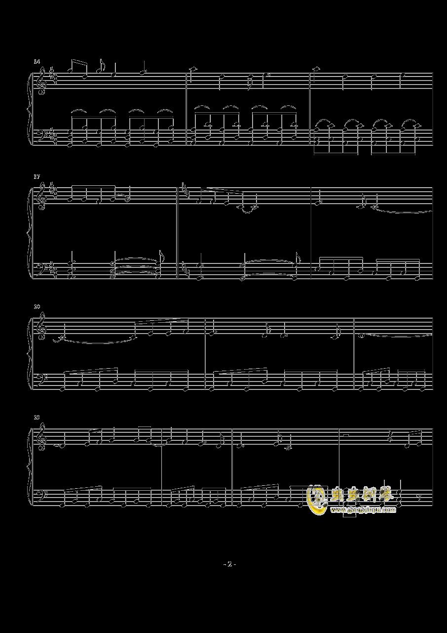 羽ばたきのバ―スデイ钢琴谱 第2页