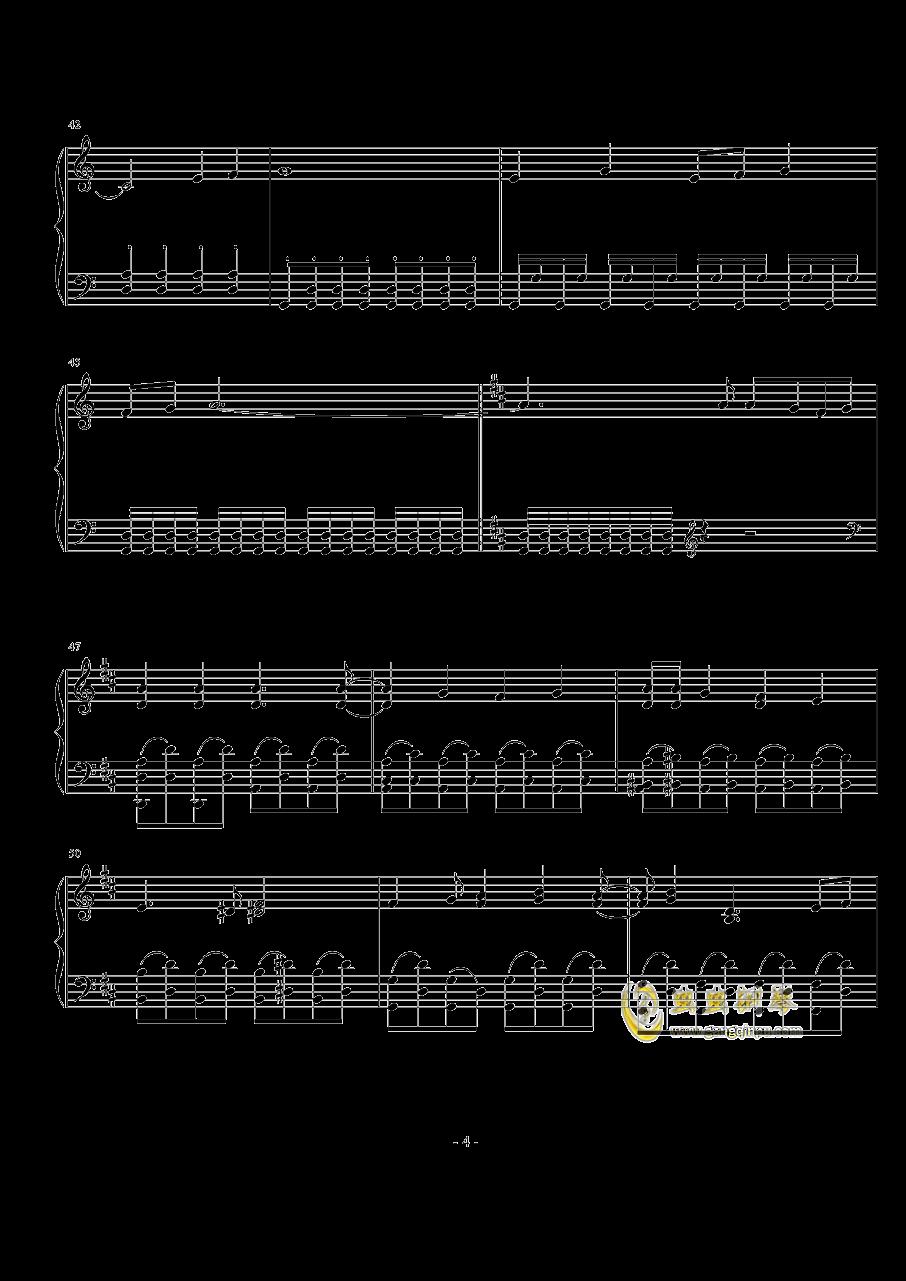 羽ばたきのバ—スデイ钢琴谱 第4页