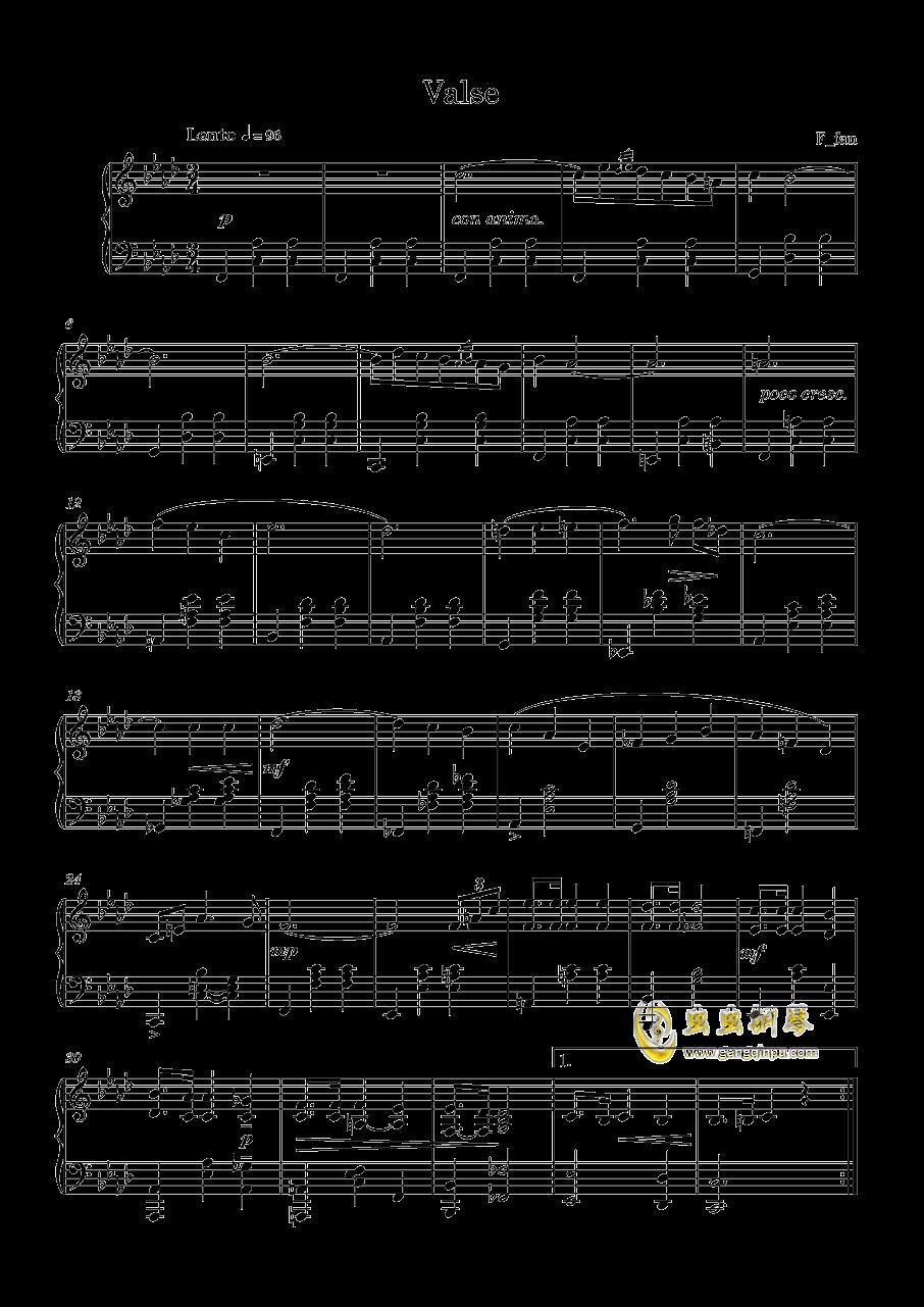 圆舞曲No.1 钢琴谱 第1页