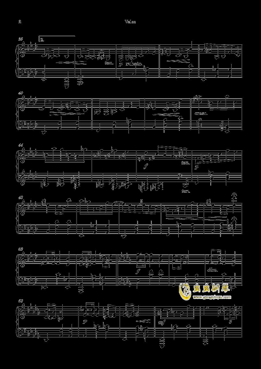 圆舞曲No.1 钢琴谱 第2页