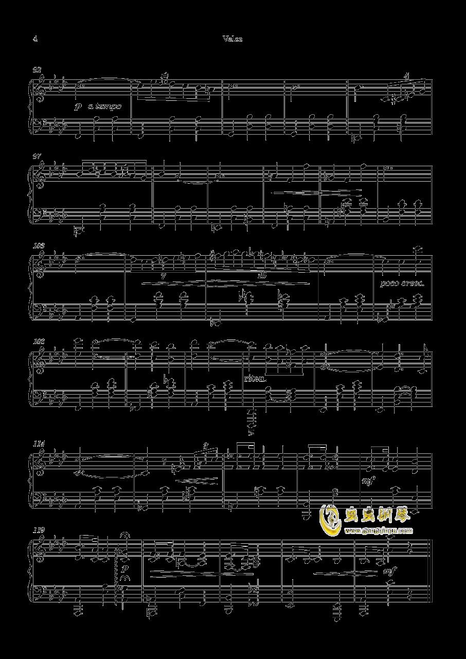 圆舞曲No.1 钢琴谱 第4页