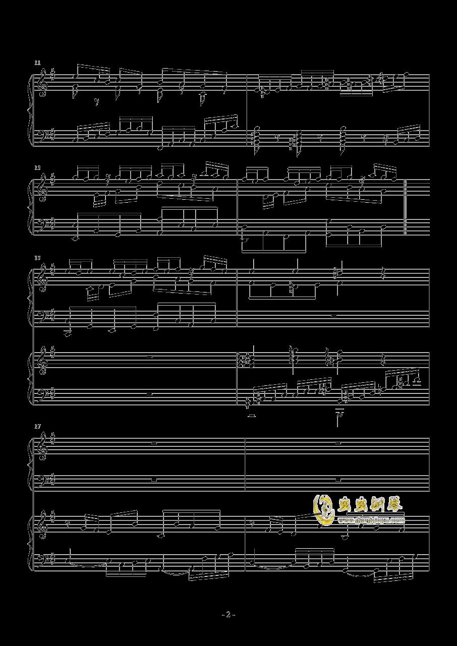 一夜的回忆钢琴谱 第2页