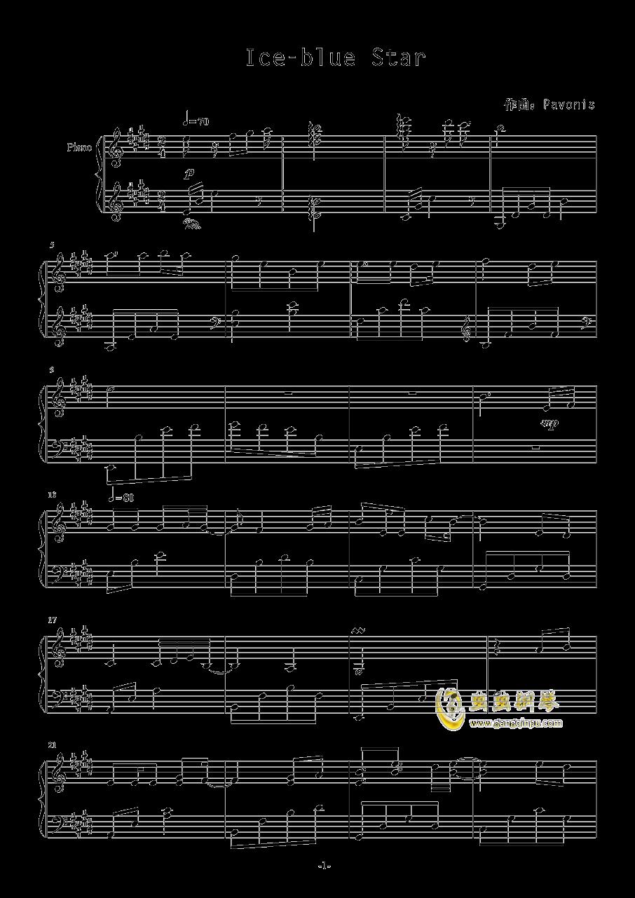 Ice-blue Star钢琴谱 第1页