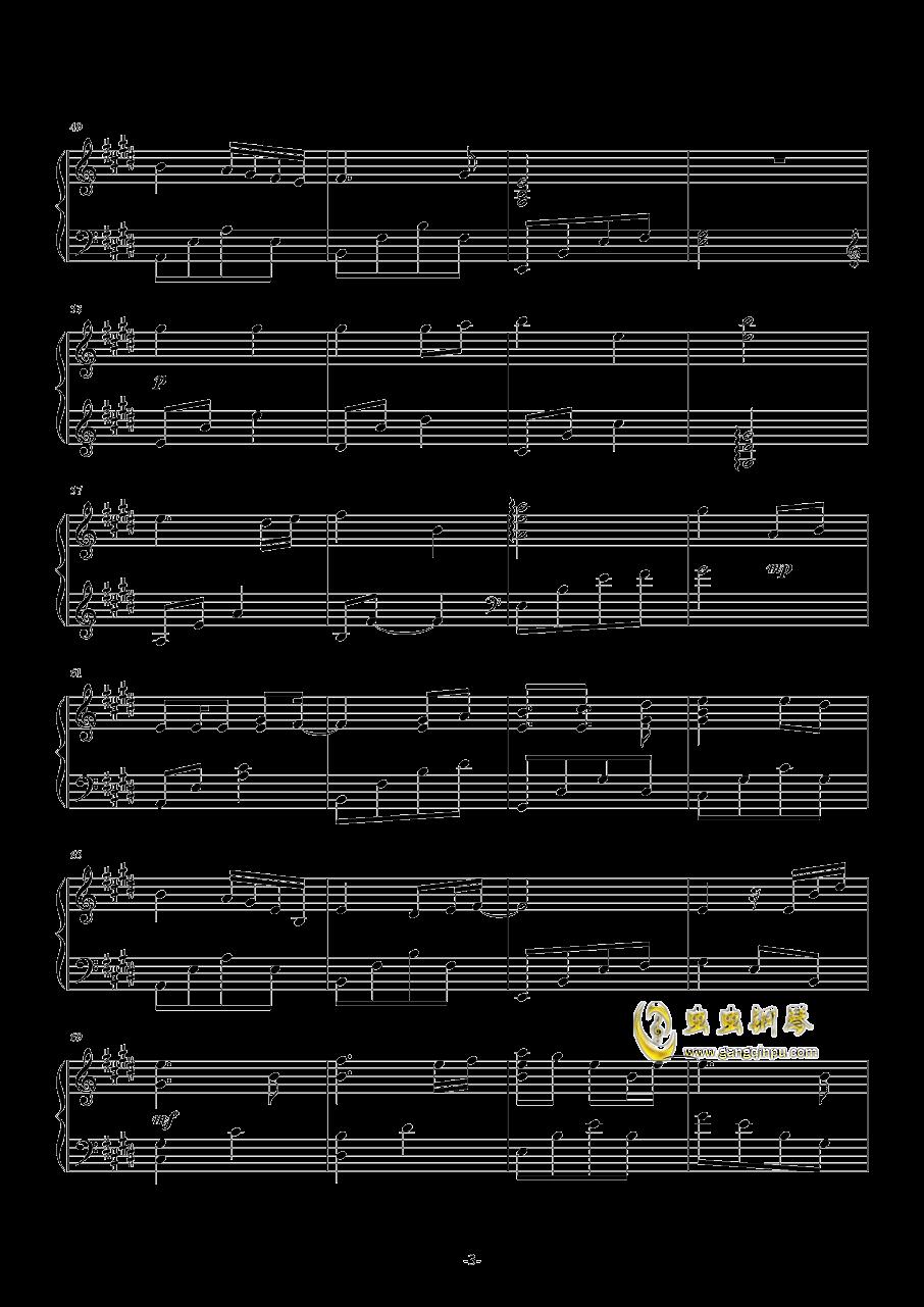 Ice-blue Star钢琴谱 第3页