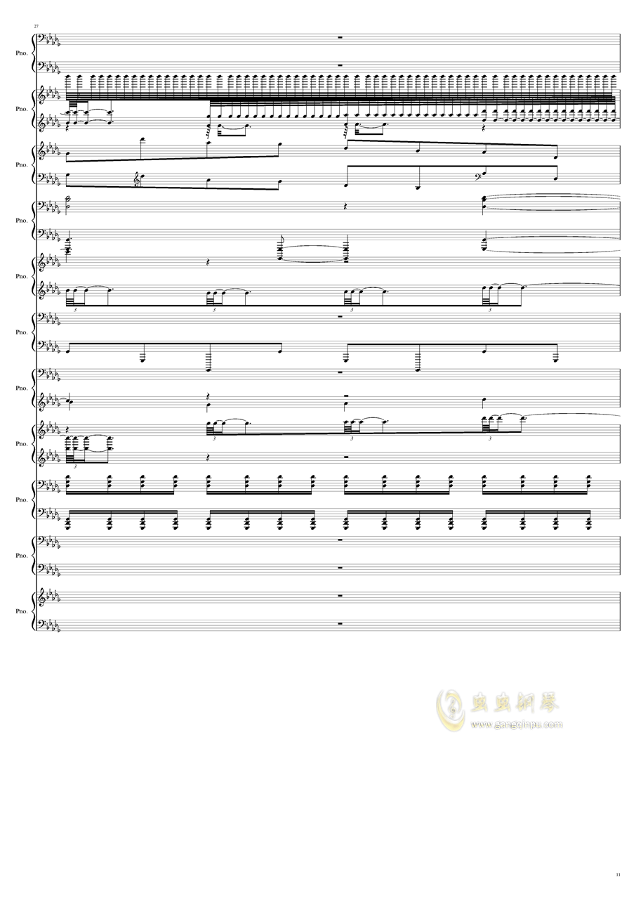 9k钢琴谱 第11页