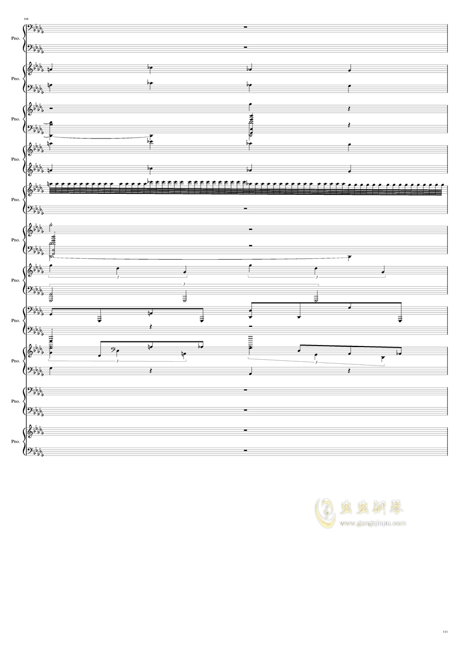 9k钢琴谱 第111页