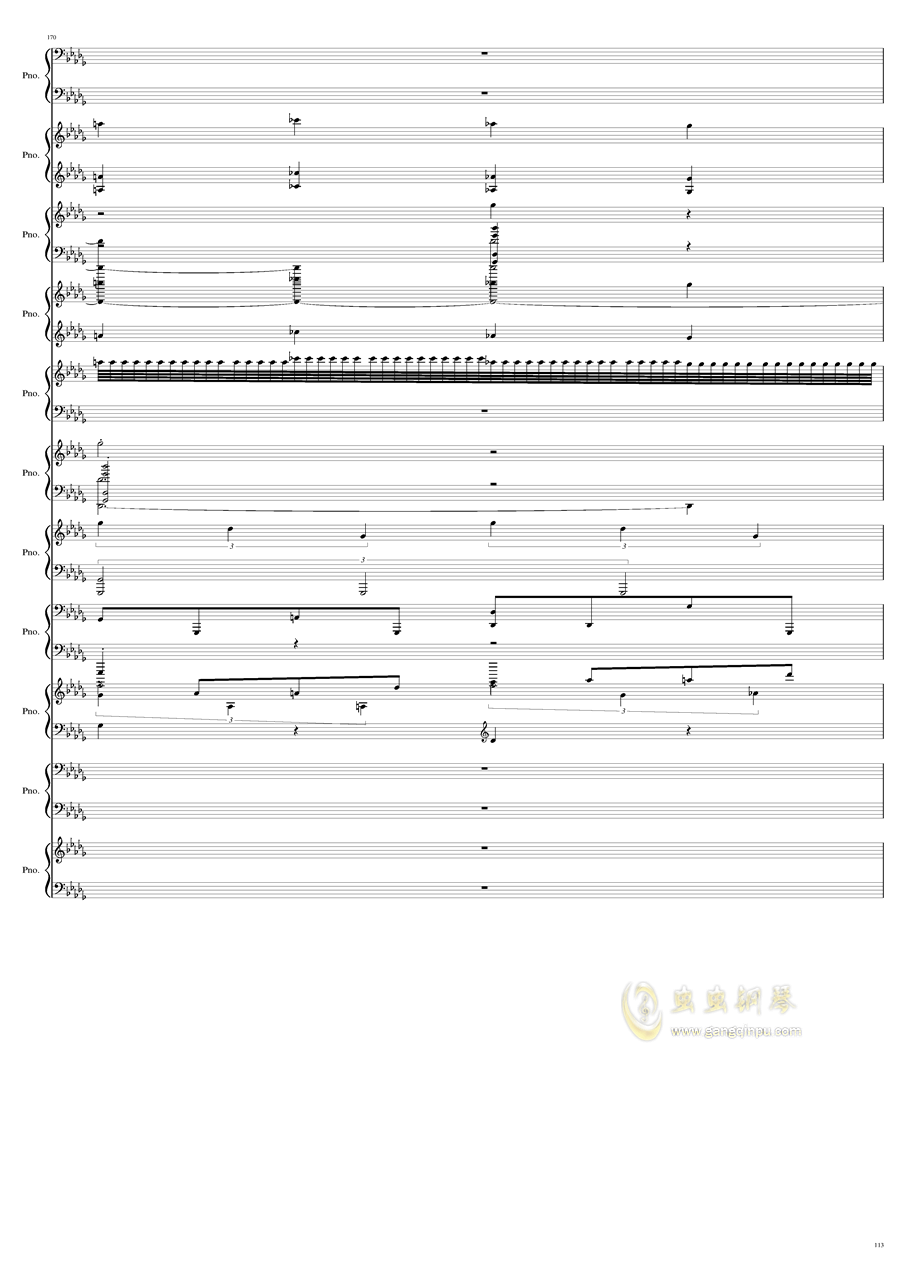 9k钢琴谱 第113页
