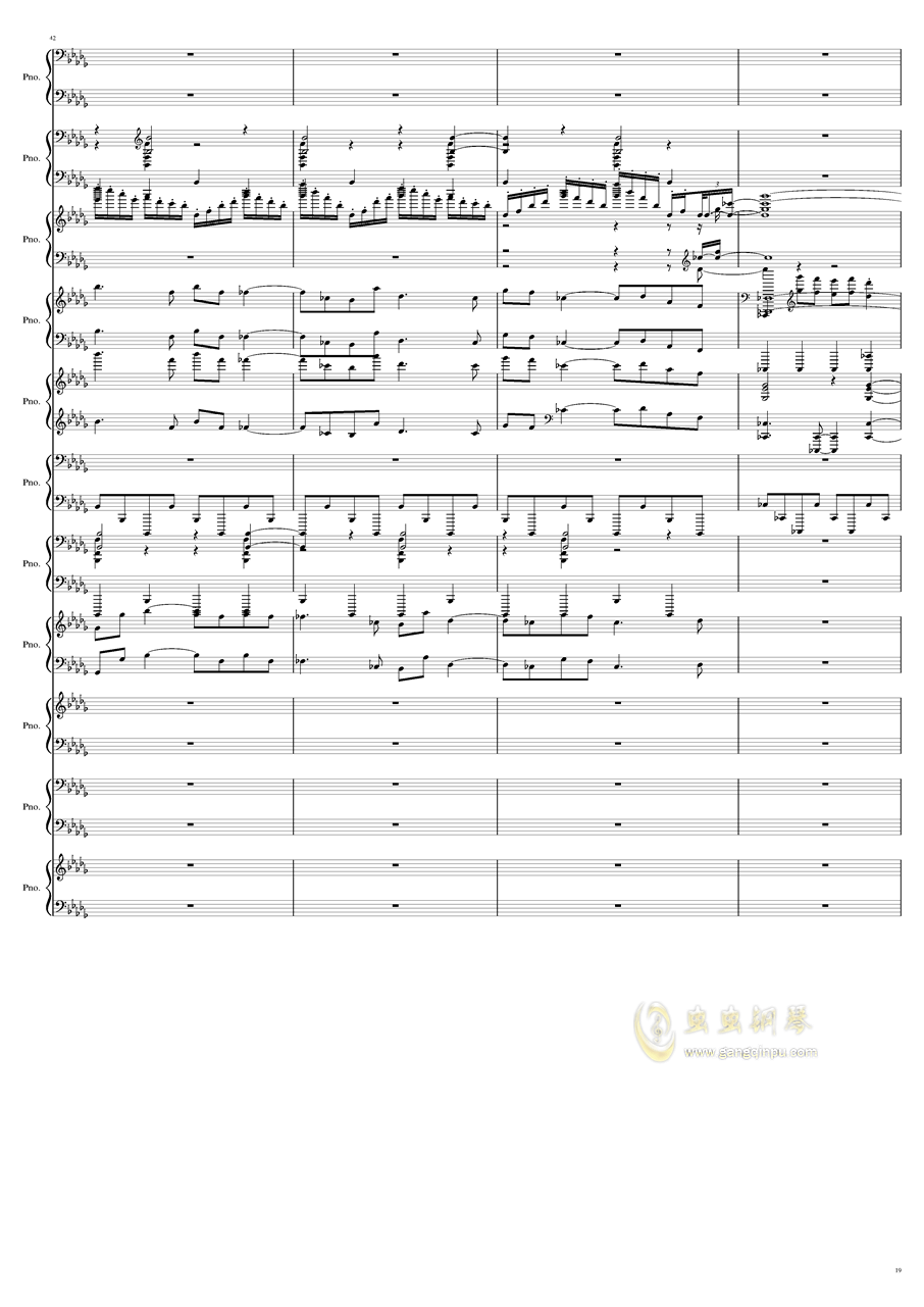 9k钢琴谱 第19页