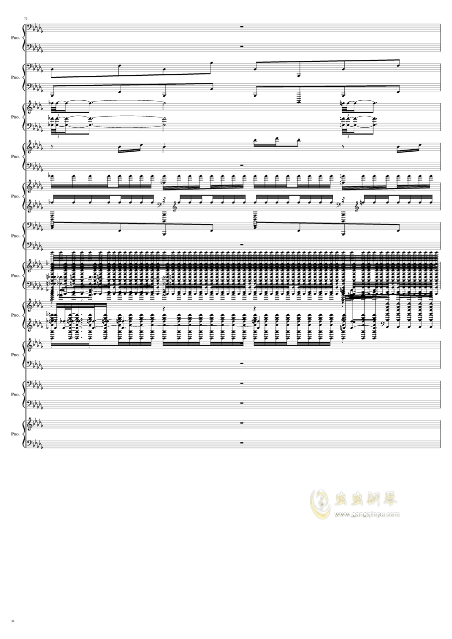 9k钢琴谱 第34页