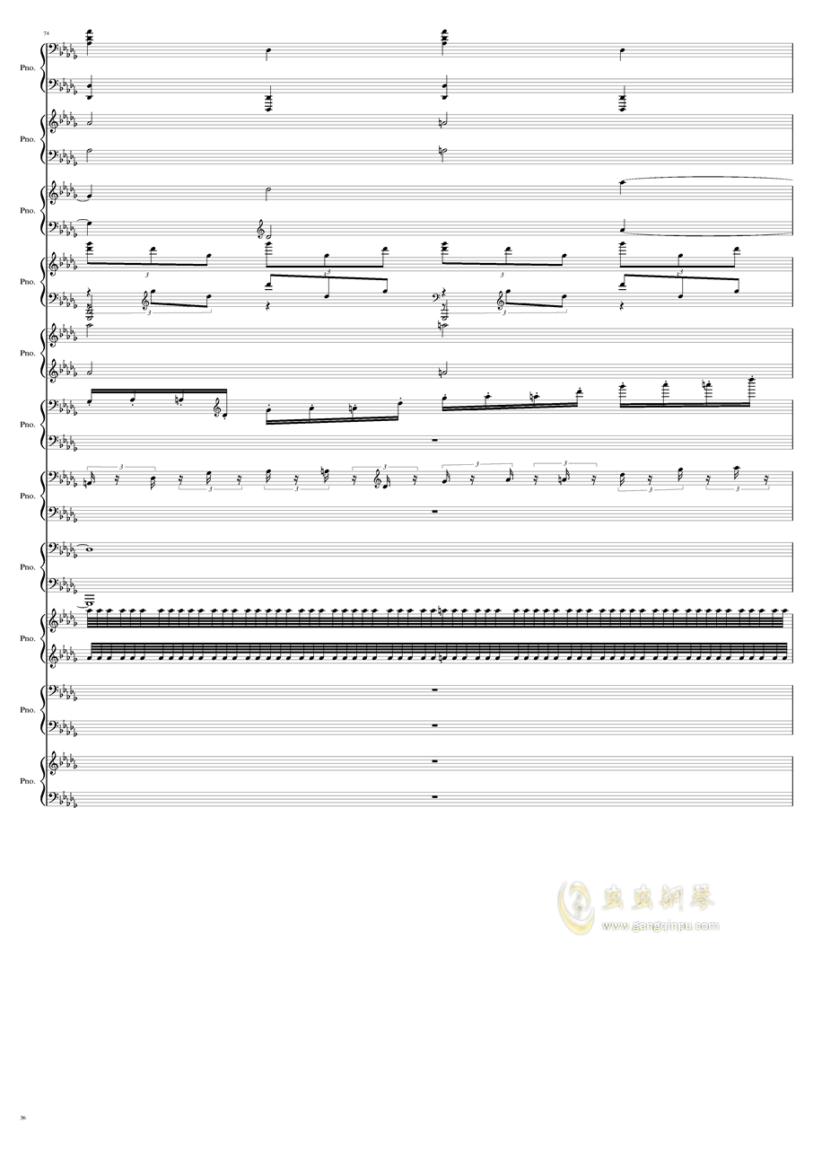 9k钢琴谱 第36页