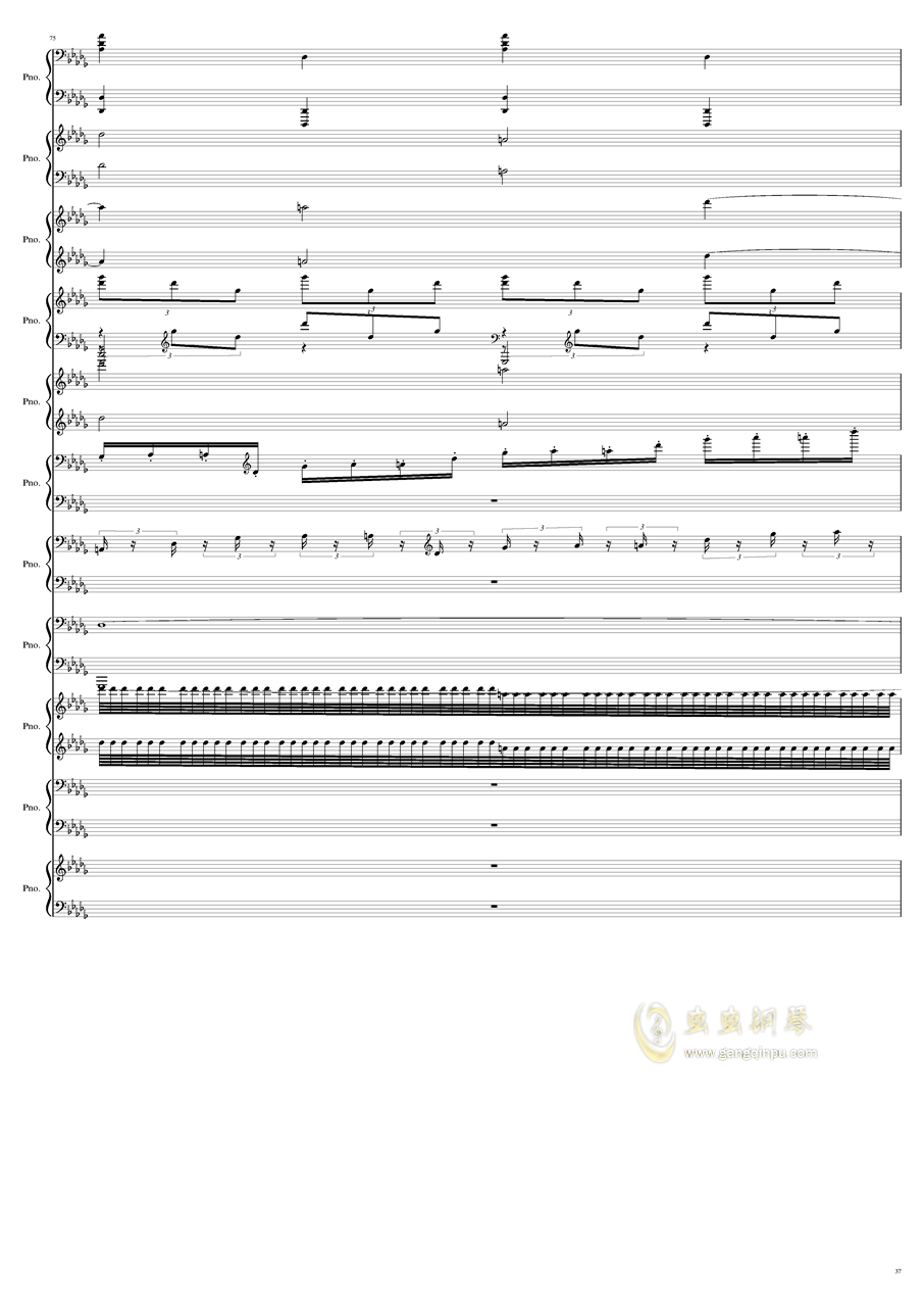 9k钢琴谱 第37页