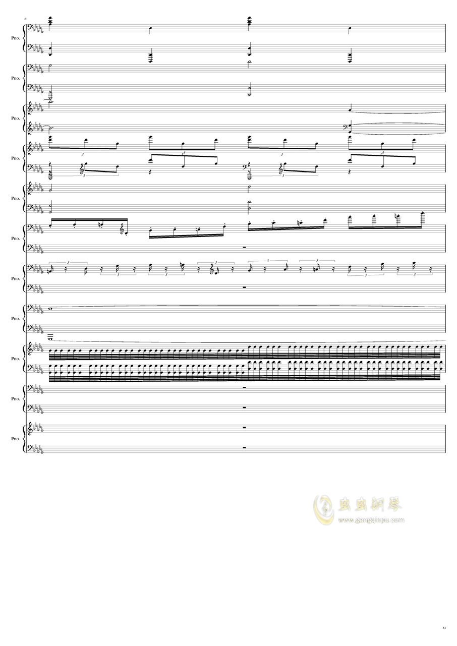 9k钢琴谱 第43页