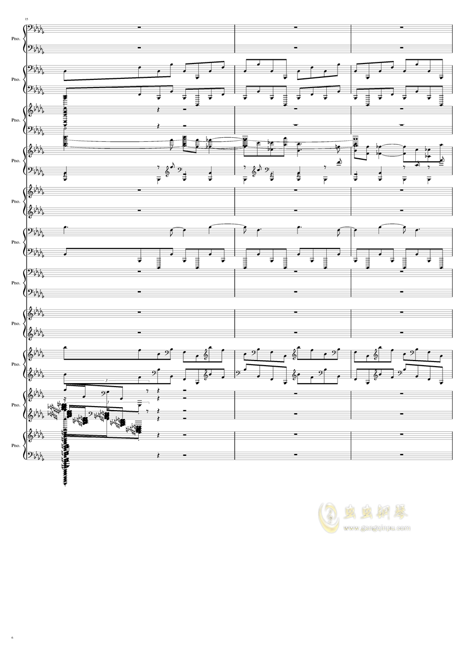 9k钢琴谱 第6页