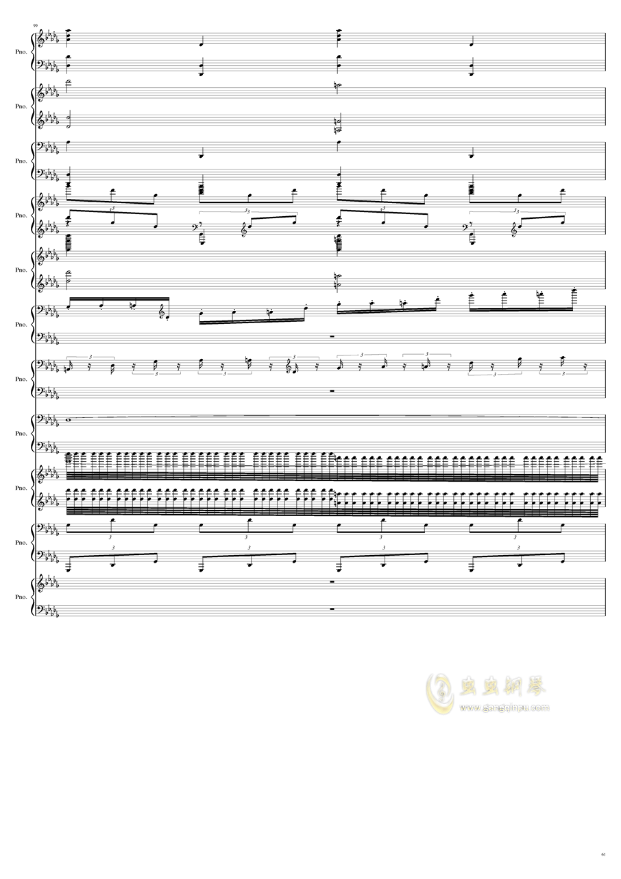 9k钢琴谱 第61页