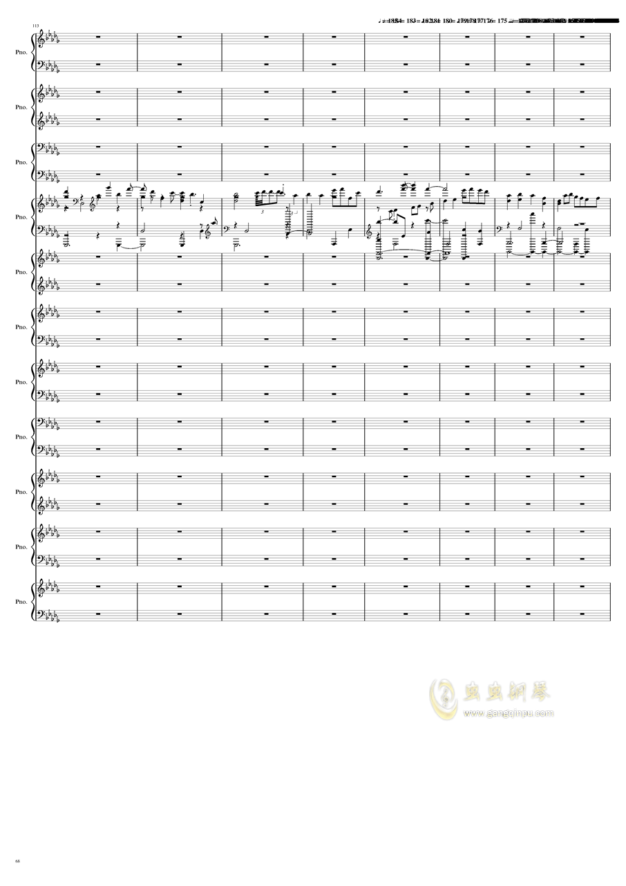 9k钢琴谱 第68页