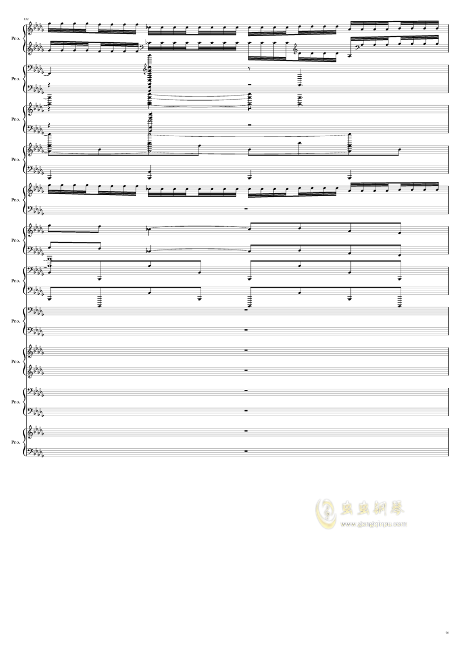 9k钢琴谱 第75页