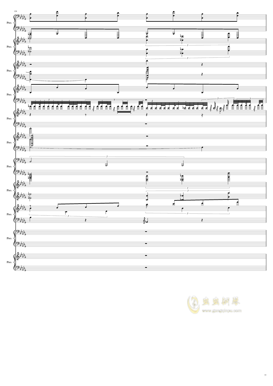 9k钢琴谱 第77页