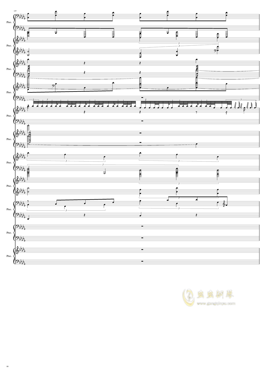 9k钢琴谱 第80页