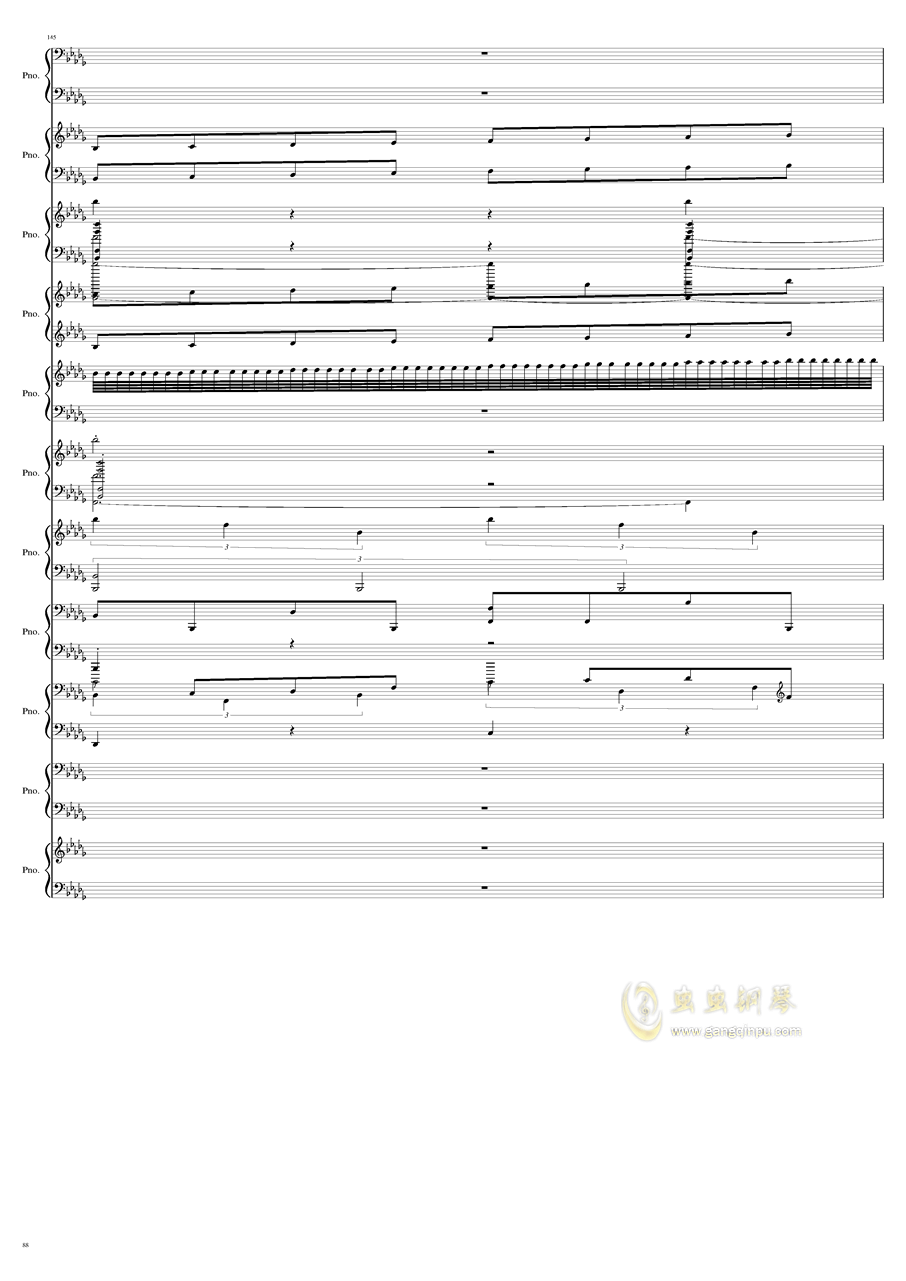 9k钢琴谱 第88页