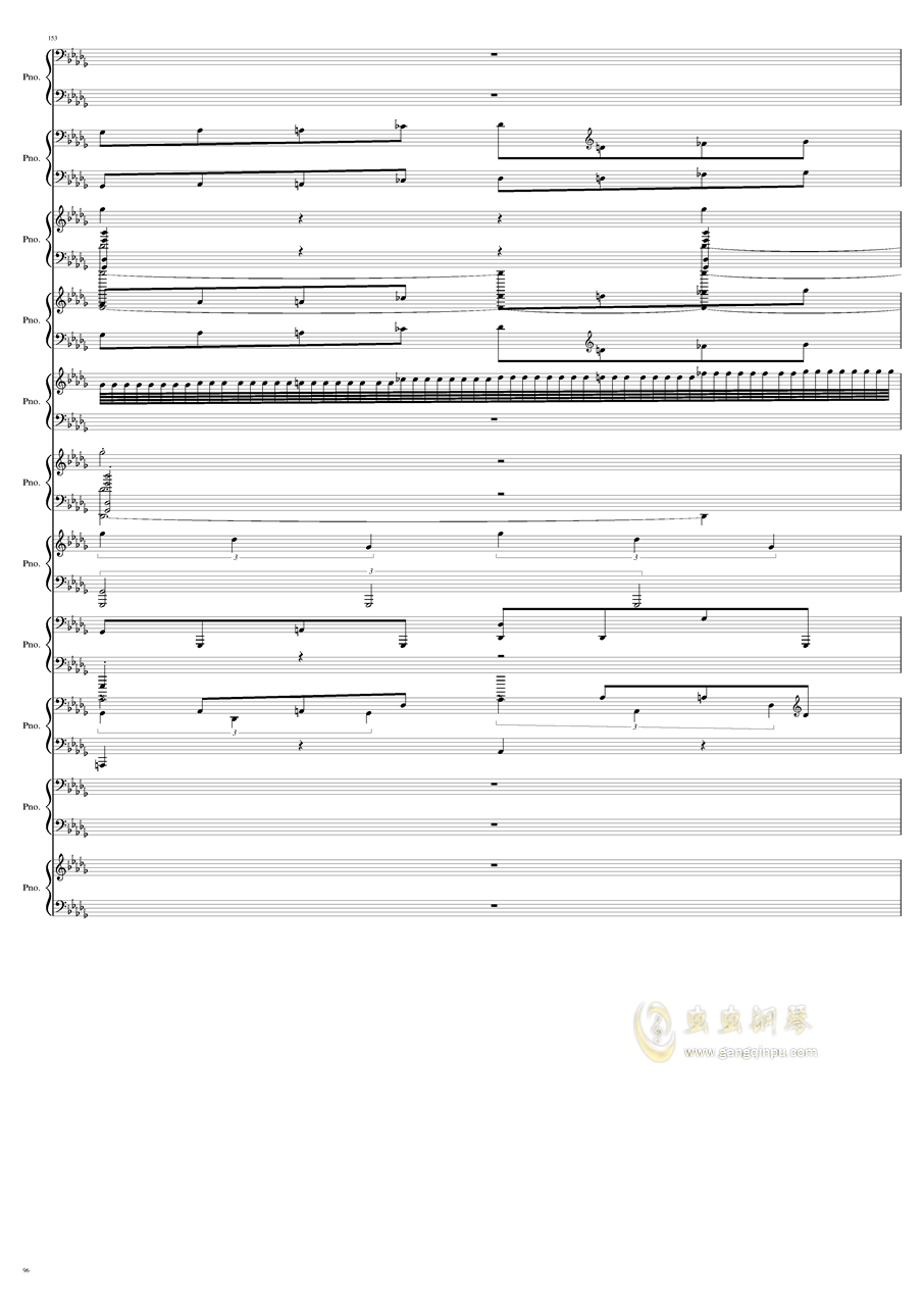 9k钢琴谱 第96页