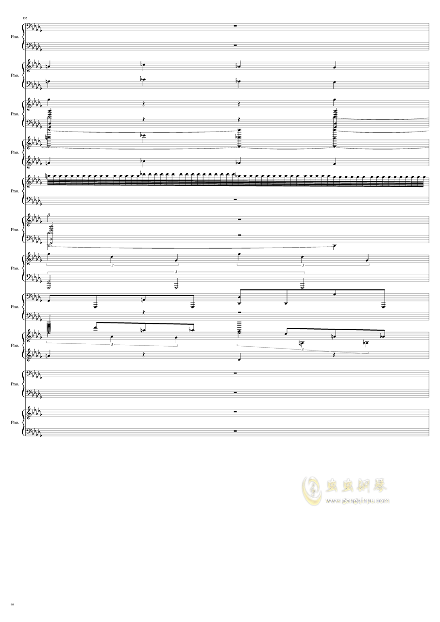 9k钢琴谱 第98页