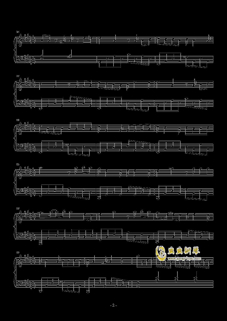 易燃易爆炸钢琴谱 第2页
