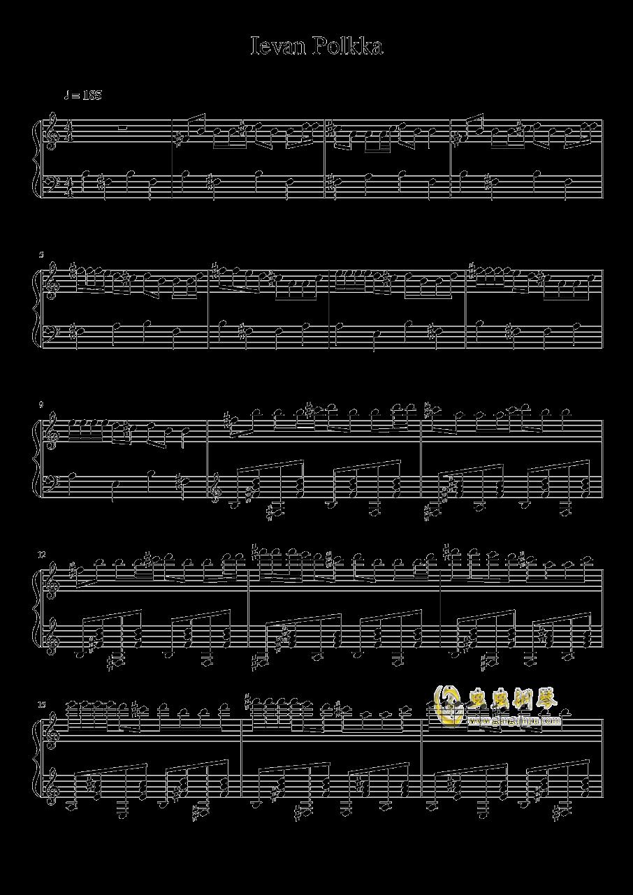 伊娃的波尔卡 钢琴谱 第1页
