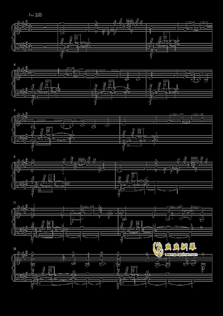 幻想的白色旅人钢琴谱 第1页