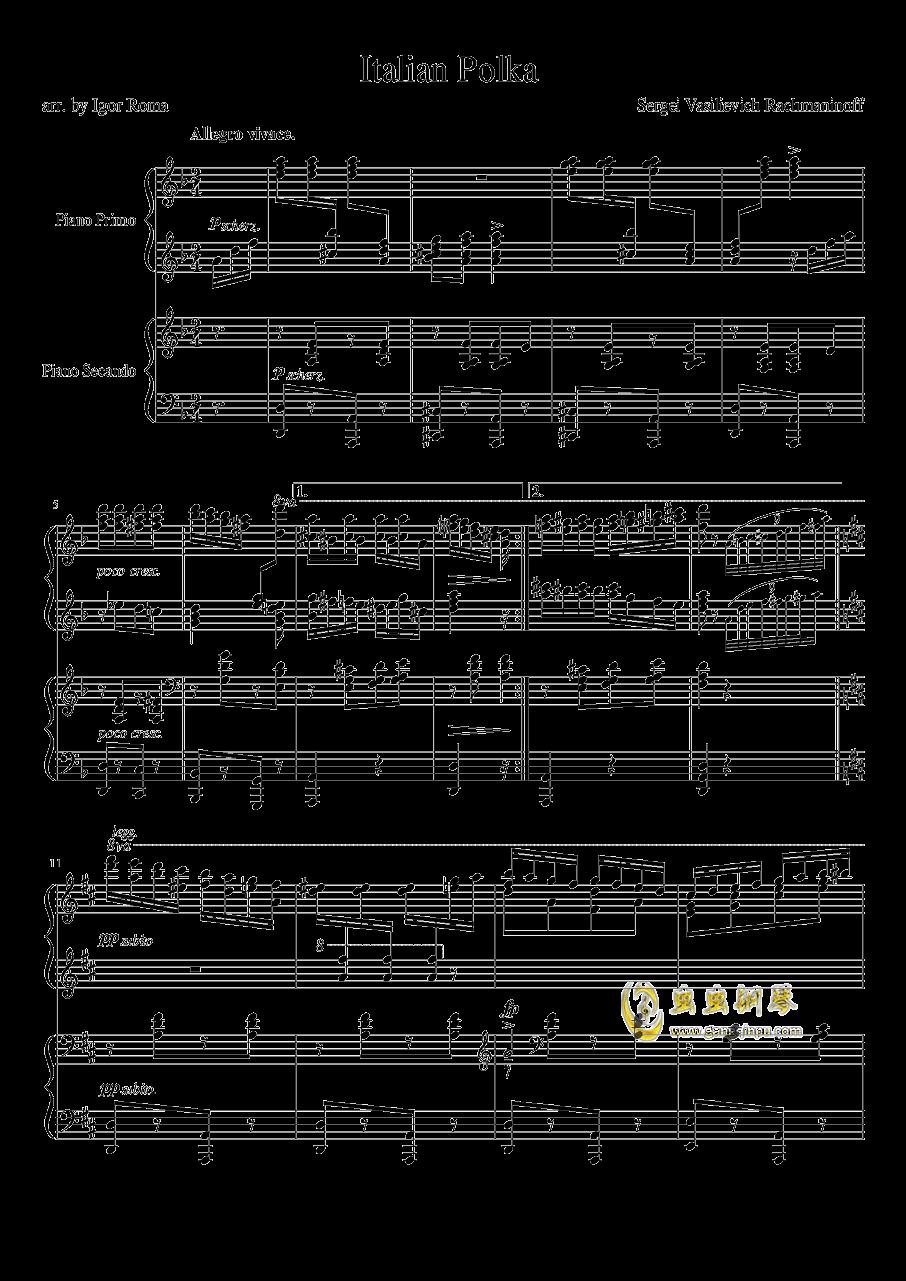 意大利波尔卡钢琴谱 第1页