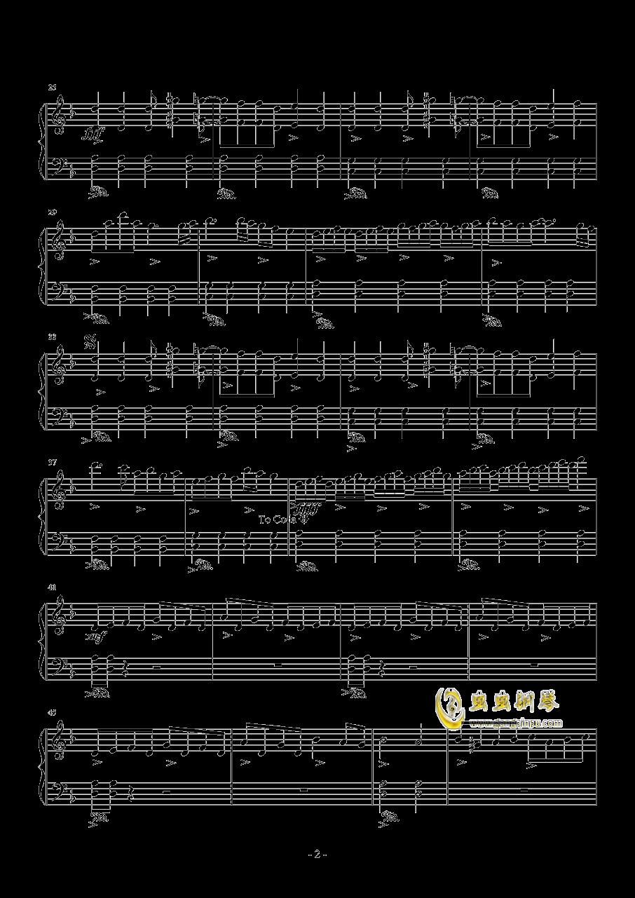 女神殿钢琴谱 第2页