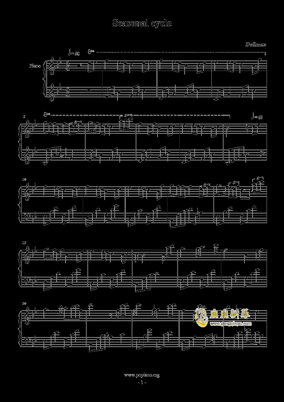 Seasonal cycle钢琴谱 第1页