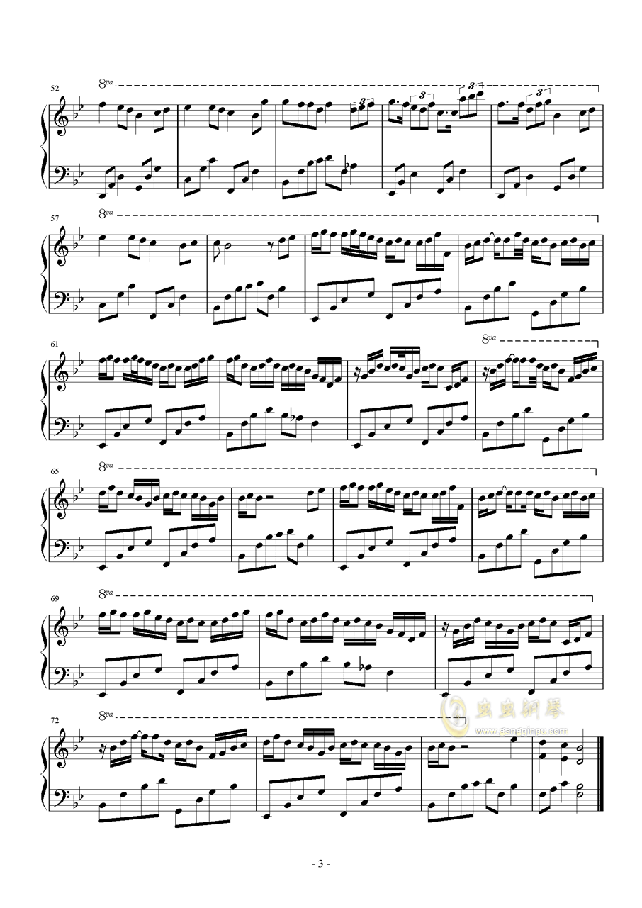 Seasonal cycle钢琴谱 第3页